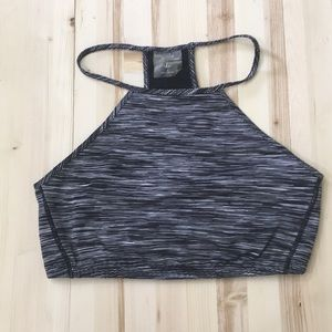Kenzie heather black sports bra size L